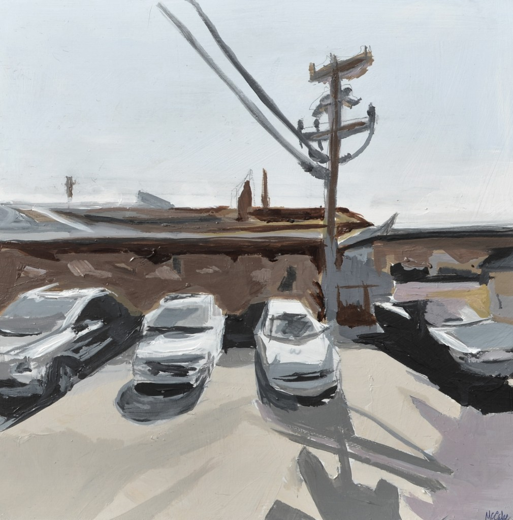 "West End 010 12 x 12"" Oil on board 2014"