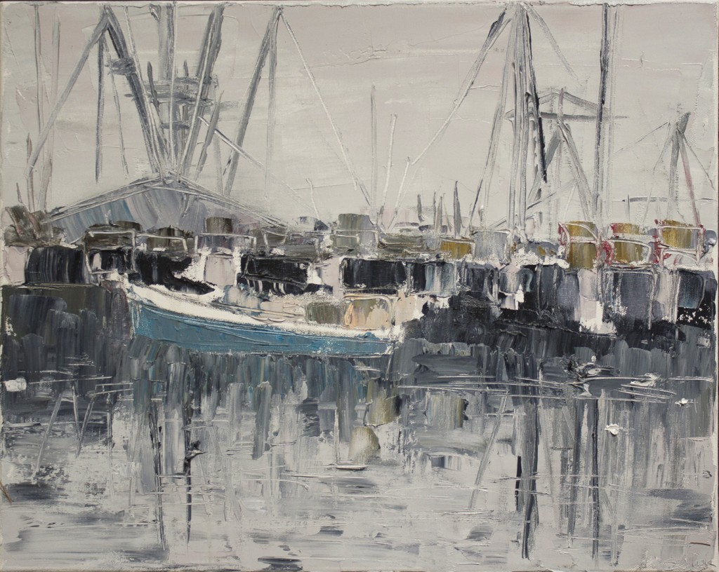 "MacMillan Wharf (III), oil on canvas, 16"" x 20"" 2016"