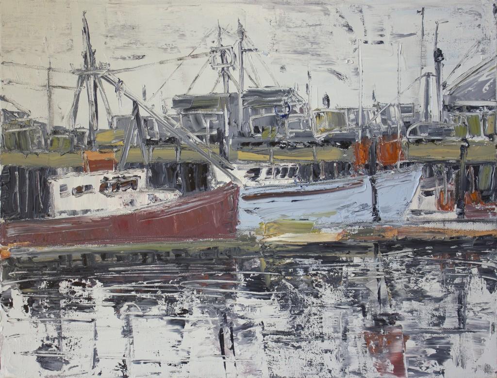 """MacMillan Wharf (IV), oil on canvas, 16"""" x 20"""" 2016"""